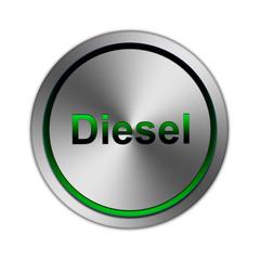 Metal Button Diesel grün