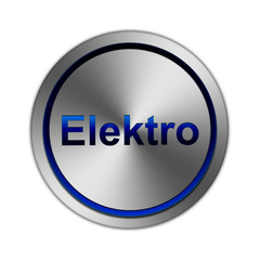 Metal Button Elektro blau