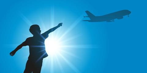 enfant - avion - rêve - garçon - aviateur - rêver - pilote - liberté - imagination