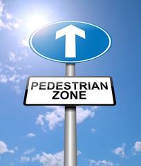 Pedestrian zone concept.