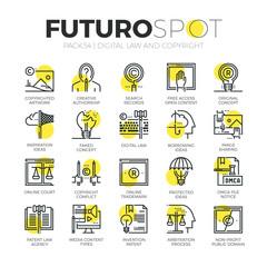 Digital Copyright Futuro Spot Icons