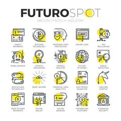 Fintech Industry Futuro Spot Icons