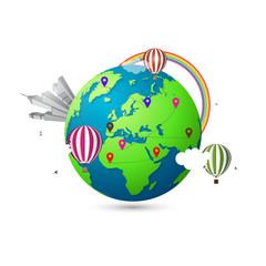 Modern 3d world map. Creative travel concept
