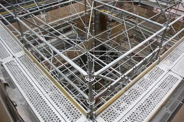 Indoor construction building site.