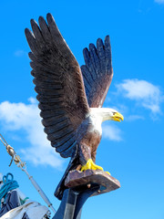 An eagle in the bow of a ship.