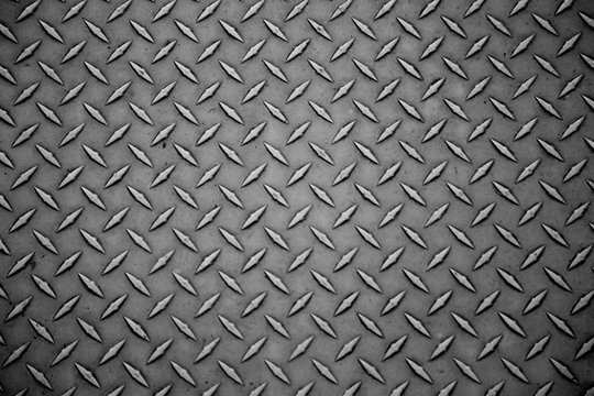 Abstract gray steel texture panel close up