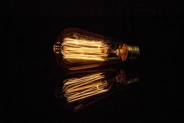 Light bulb capture energy over dark