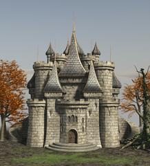 Fantasy Ancient Castle 3d render