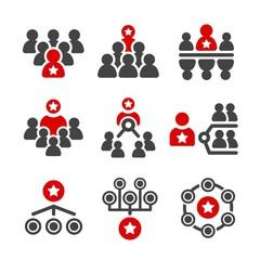leader,group,organization icon set