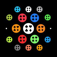 Modernes UI design - Spielkarten