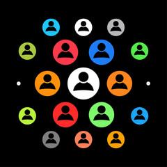 Modernes UI design - Profilbild