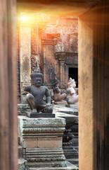 Banteay Srey Temple ruins (Xth Century) , Siem Reap, Cambodia