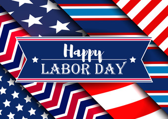 Labor Day Card. Happy Labor Day Background.