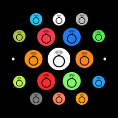 Modernes UI design - Diamantring