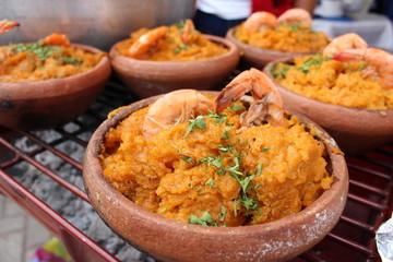 plato típico,echo a base de verde maní y camarón, conocido como cazuela de camarón