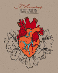 Blooming Heart concept.