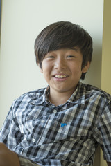 Portrait of smiling Asian boy