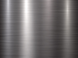 Fototapete - Metal horizontal abstract technology background with polished, brushed texture, chrome, silver, steel, aluminum for design concepts, web, prints, posters, wallpapers, interfaces. Vector illustration.