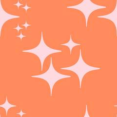 Orange Star Repeat Pattern Vector