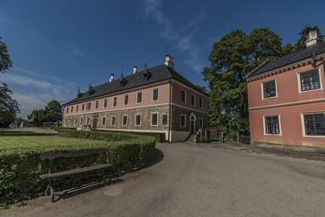 Castle in north Bohemia in sunny day