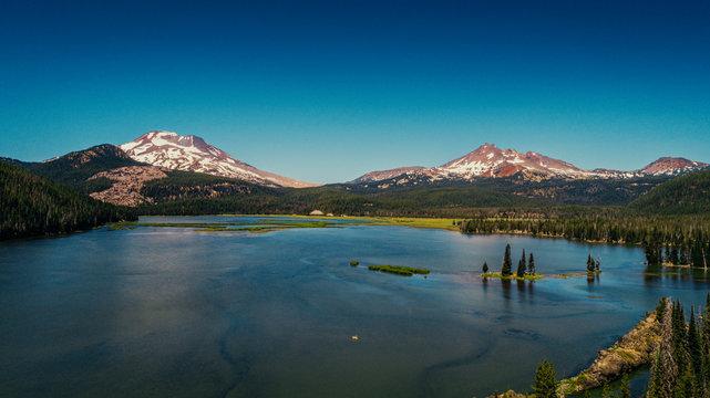 Lone Kayak   Sparks Lake, Bend Oregon