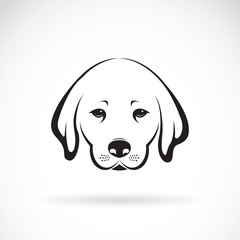 Vector of Labrador dog head on white background, Pet Animal.