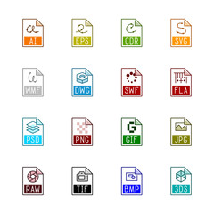 File type icons: Graphics - Linne Color