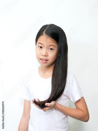 Beautiful young asian teen girl