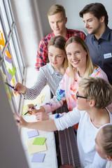 teilnehmer in einem workshop