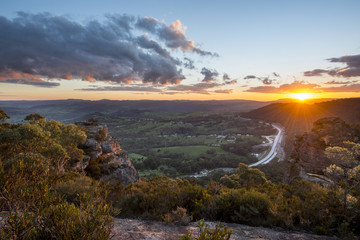 Hassan walls lookout in Blue Mountains national park