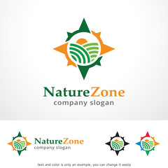 Nature Zone Logo Template Design Vector, Emblem, Design Concept, Creative Symbol, Icon