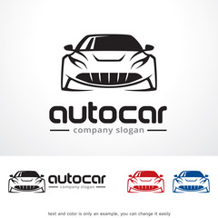 Auto Car Logo Template Design Vector, Emblem, Design Concept, Creative Symbol, Icon