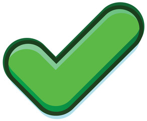 Green check vector icon