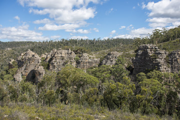 Pagoda rock  in Blue Mountains national park