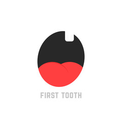 simple first tooth icon