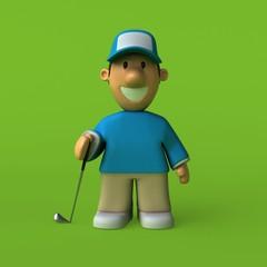 Golfer - 3D Illustration