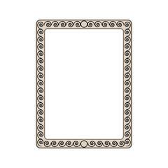 Frame of spiral card