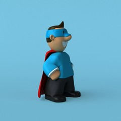 Super dad - 3D Illustration
