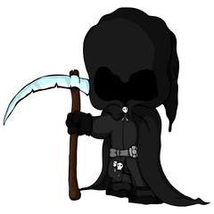 Isolated vector illustration of а grim Reaper
