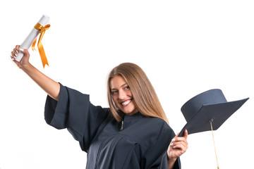 Happy graduate student