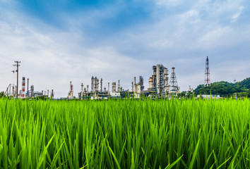 modern petrochemical plant and field.