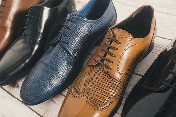 Men shoes collection - different models and colors