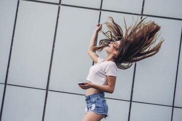Beautiful teenager having fun