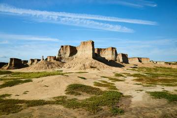Tulin Landform scenery of Datong City,Shanxi Province,China