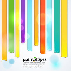Rainbow paint stripes, vector background