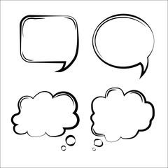 Set of speak bubbles