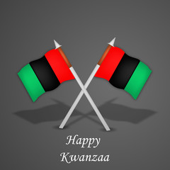illustration of elements of Kwanzaa Background. Kwanzaa is a week long celebration held in the United States to honor universal African heritage and culture