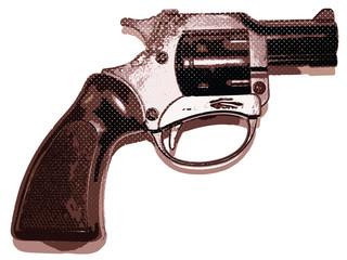 Gun Pistol Halftone Vector