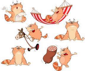 Set  Cartoon Illustration. A Cute Cats for you Design
