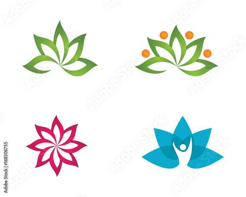 beauty lotus logo template fotolia com の ストック画像とロイヤリティ